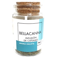 Vista frontal del infusión cáñamo galleta 3 gr Bellacanna en stock