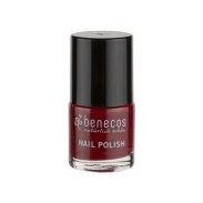 Vista delantera del laca de uñas Cherry Red 9ml Benecos en stock