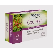 Vista frontal del courage 48 comprimidos Dietisa en stock