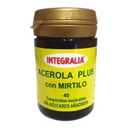 Acerola Plus con mirtilo 40 comprimidos masticables Integralia