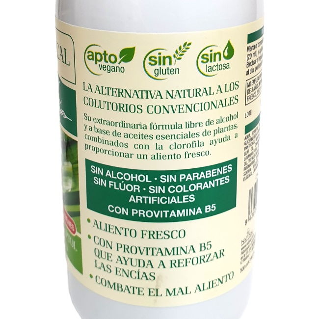 Foto detallada de colutorio bucal Herbal zero% 500ml Natysal