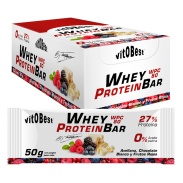 Barrita Whey Protein Bar by Torreblanca (caja) Chocolate blanco y Frutos rojos VitOBest